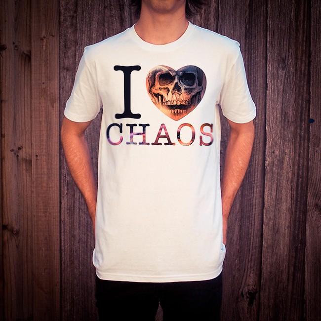 I LOVE CHAOS WHITE TEE