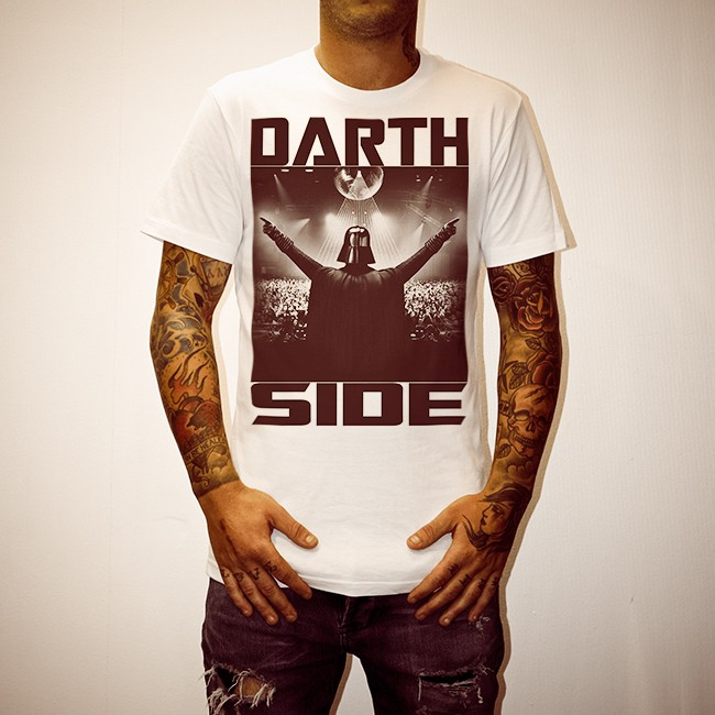 DARTH SIDE WHITE TEE