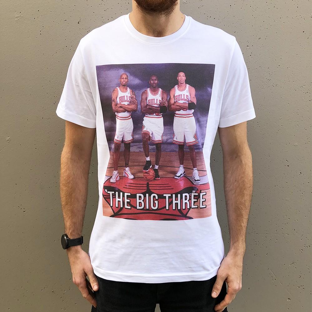 THE BIG THREE WHITE TEE