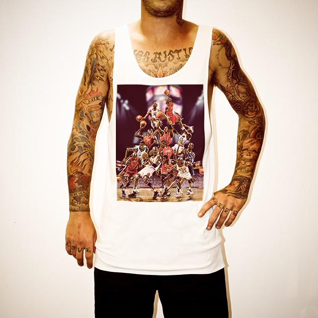 CARTOON JORDANS WHITE SINGLET