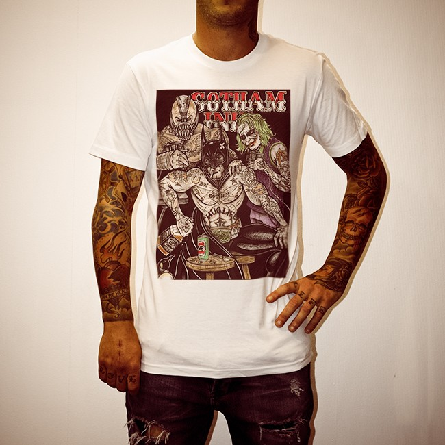 GOTHAM INK WHITE TEE