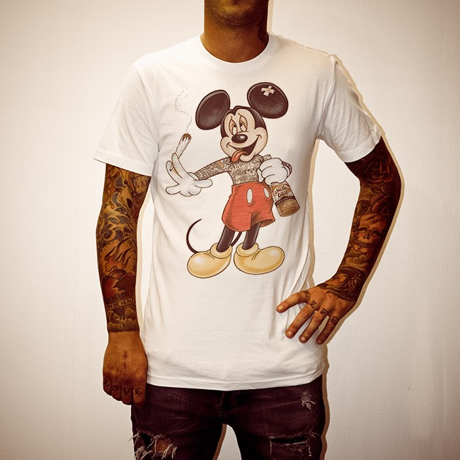 STONED MOUSE WHITE TEE