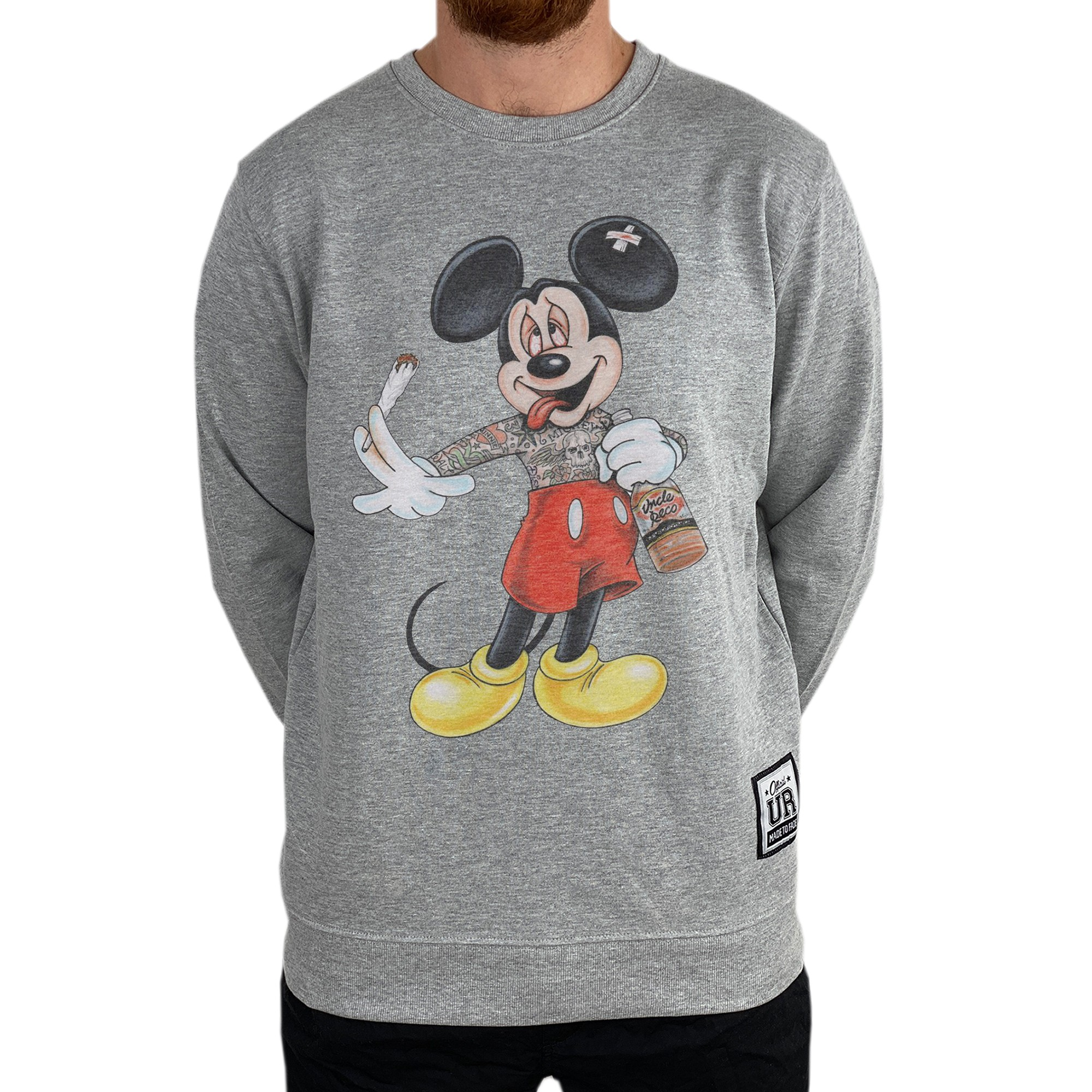 STONED MOUSE MARBLE GREY CREW
