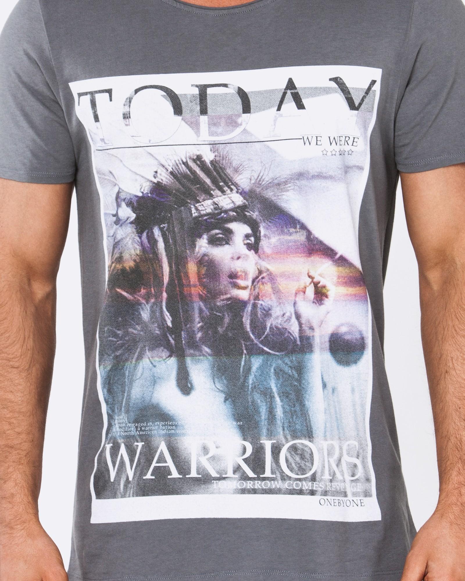 TODAY WARRIORS DARK GREY TEE