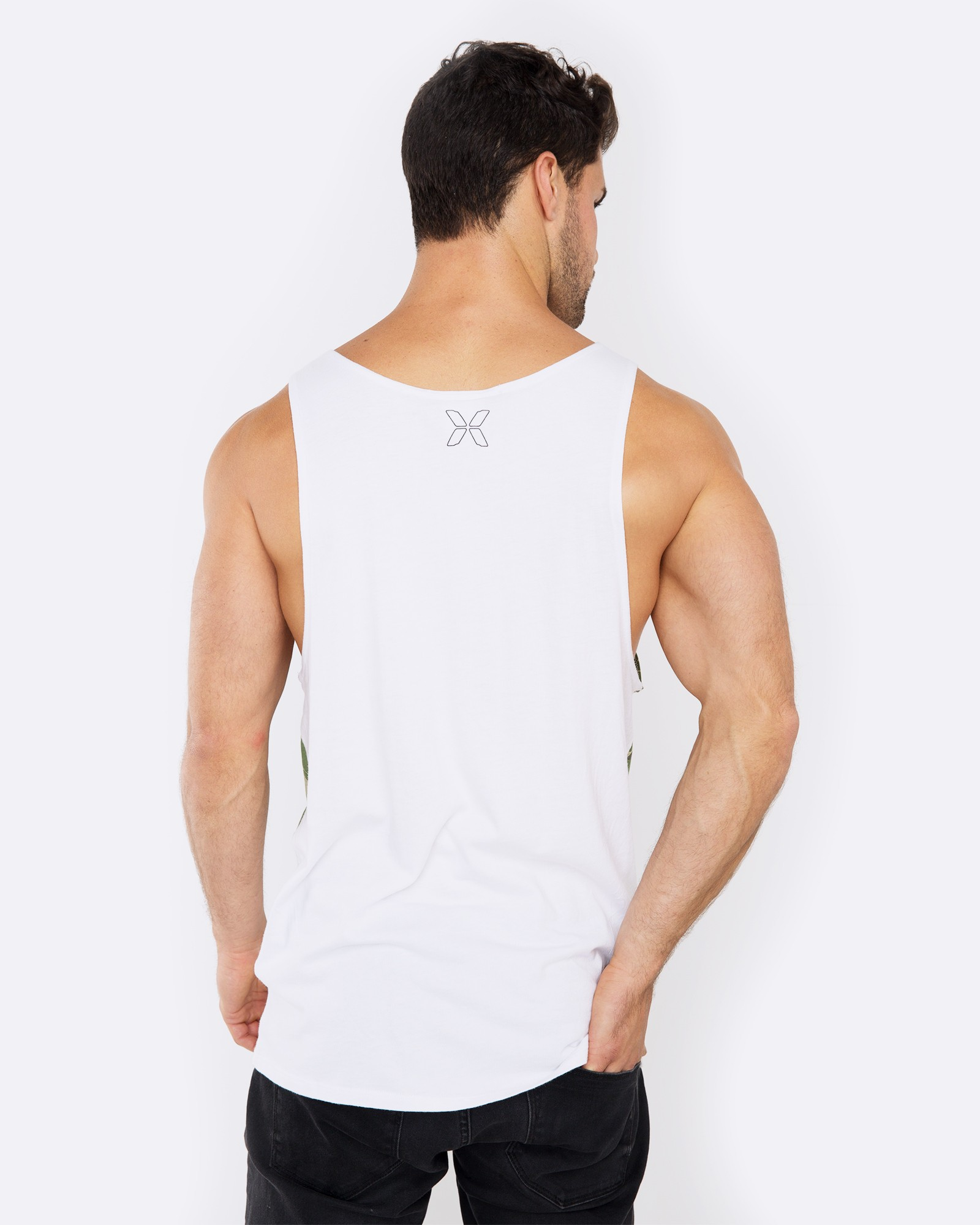 FIND ME IN THE WOODS WHITE SINGLET