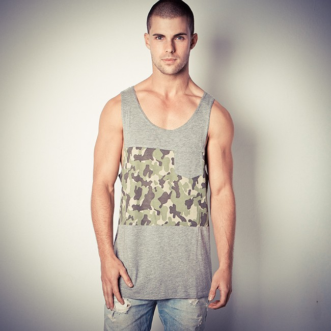 FIND ME IN THE WOODS MARBLE GREY GREY SINGLET