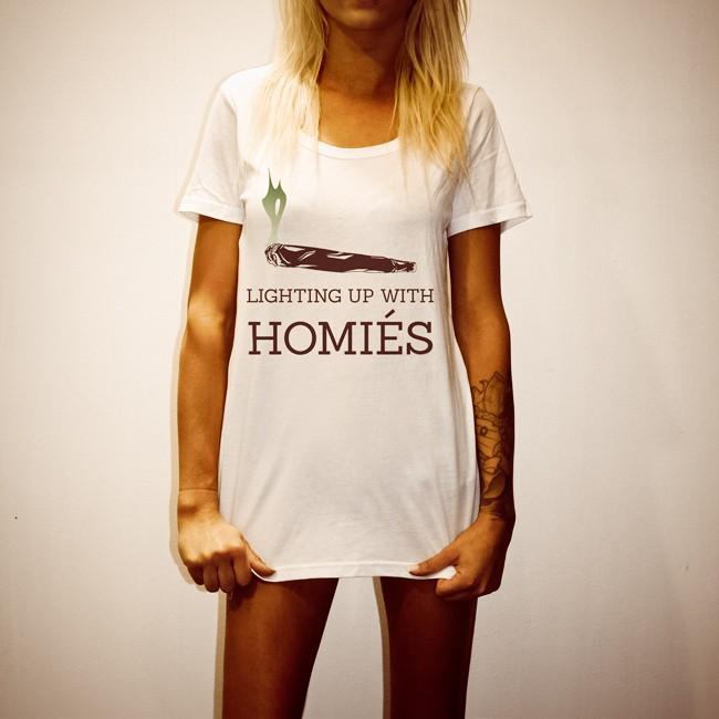 HOMIES WOMENS WHITE TEE