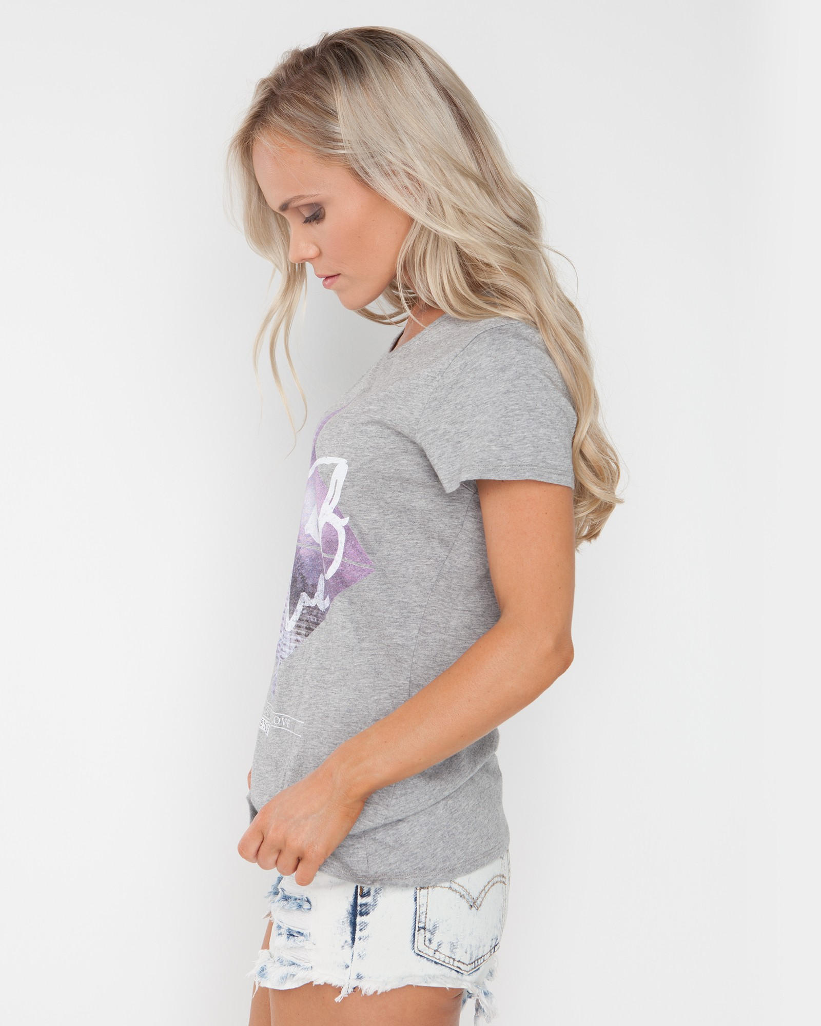 OUT OF LOVE MARBLE GREY TEE