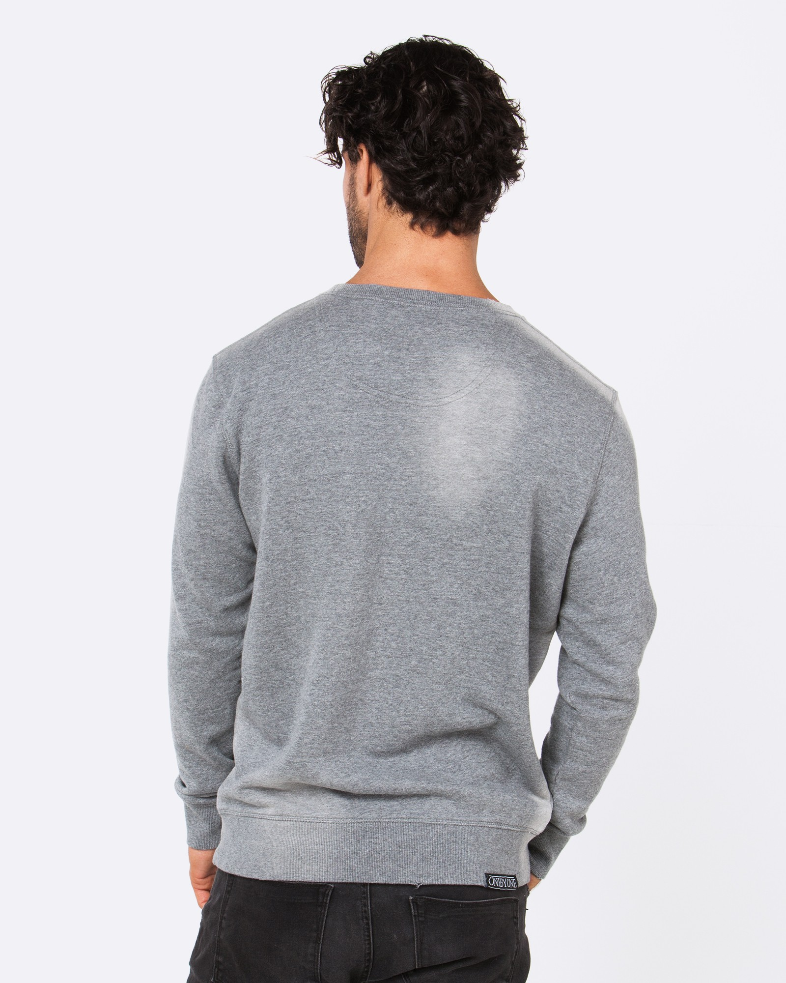 DARK TURNS TO LIGHT MARBLE GREY CREW