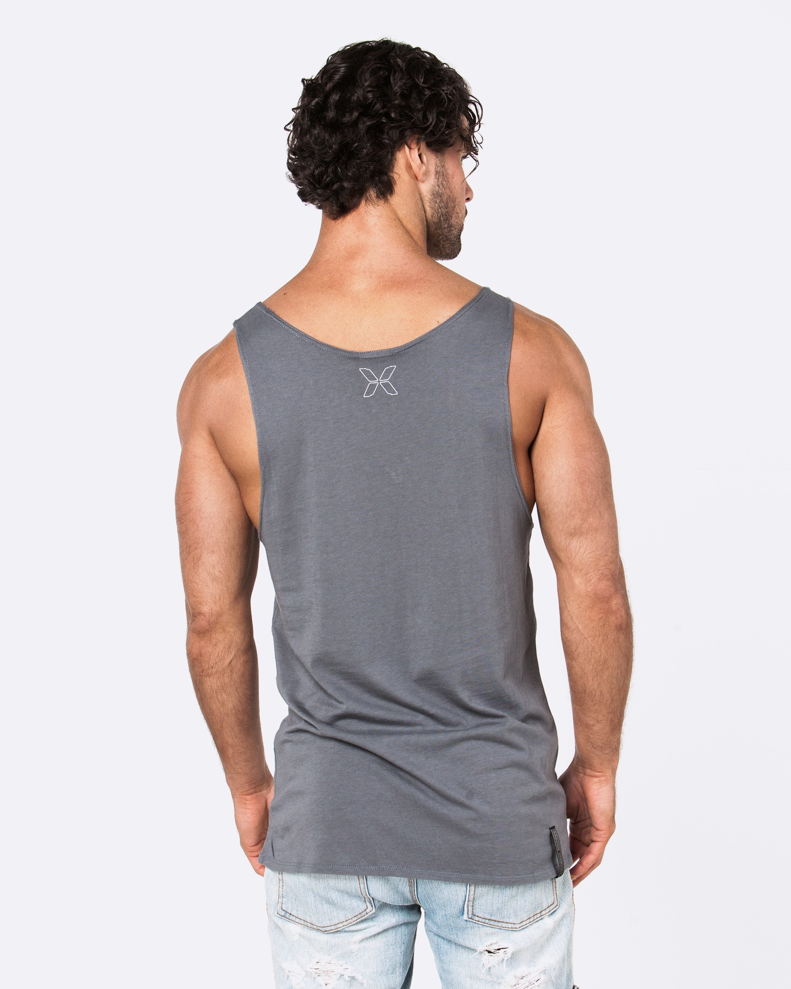 TODAY WARRIORS DARK GREY SINGLET