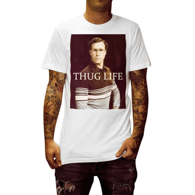 WILL THUG LIFE WHITE TEE
