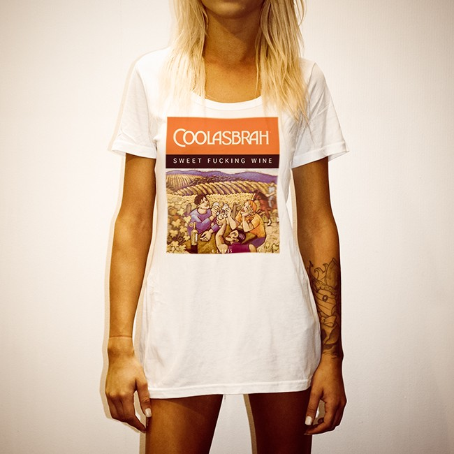COOLASBRAH WHITE WOMENS TEE