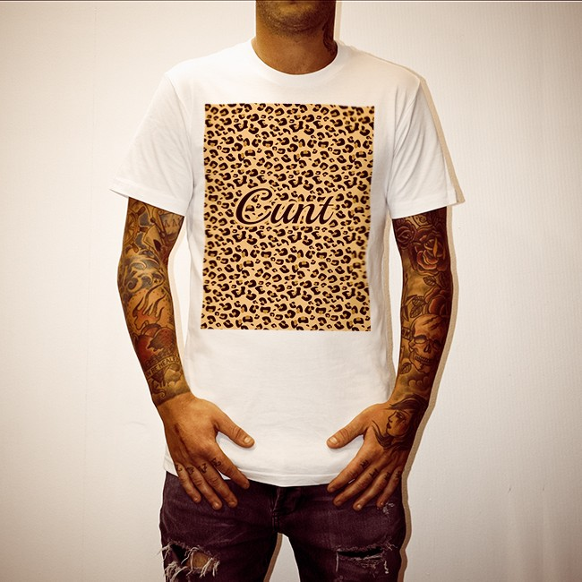 LEOPARD CUNT WHITE TEE