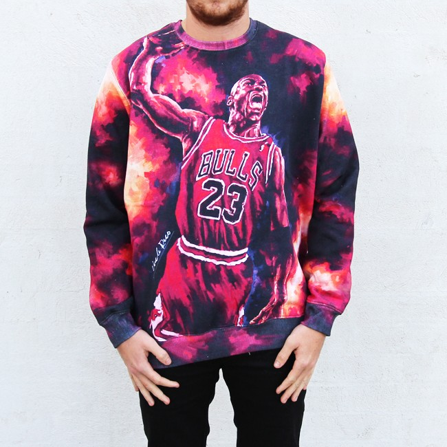 FULL PRINT JORDAN IN FLAMES CREW