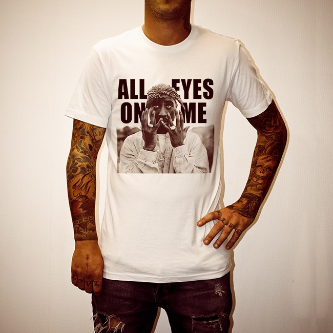 ALL EYES ON ME WHITE TEE