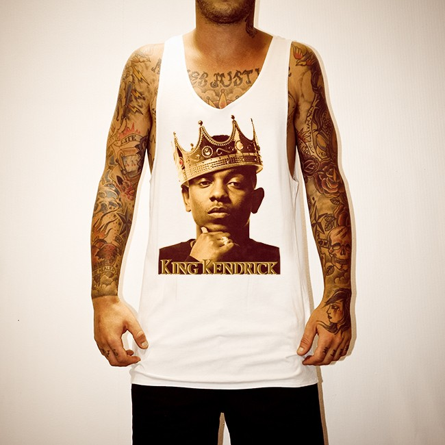 KING KENDRICK WHITE SINGLET