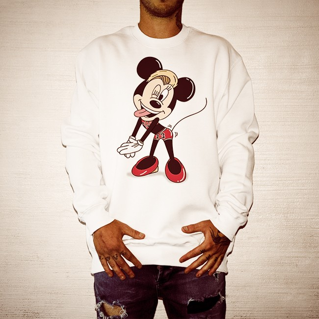 MILEY MOUSE WHITE CREW