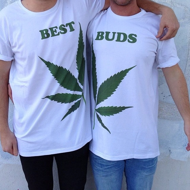 BUDS LEAF FUSION WHITE TEE