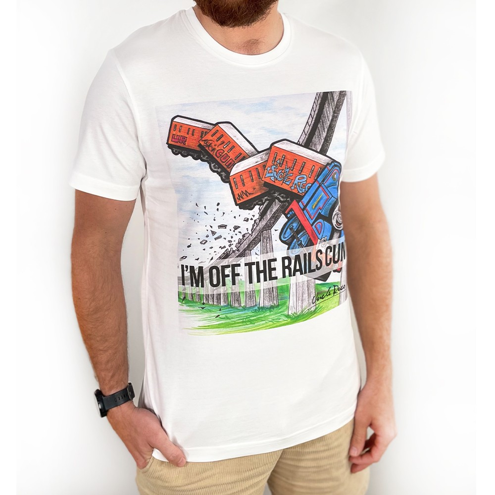OFF THE RAILS WHITE TEE