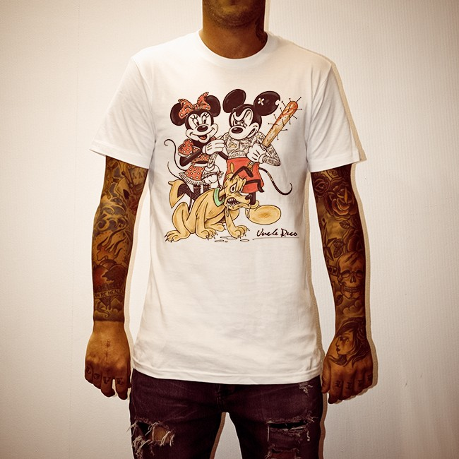 GANGSTER MICKEY WHITE TEE