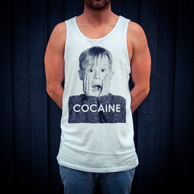 COKE ALONE WHITE SINGLET