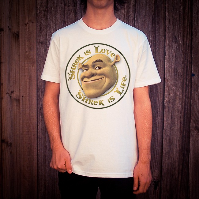SHREK IS LOVE WHITE TEE