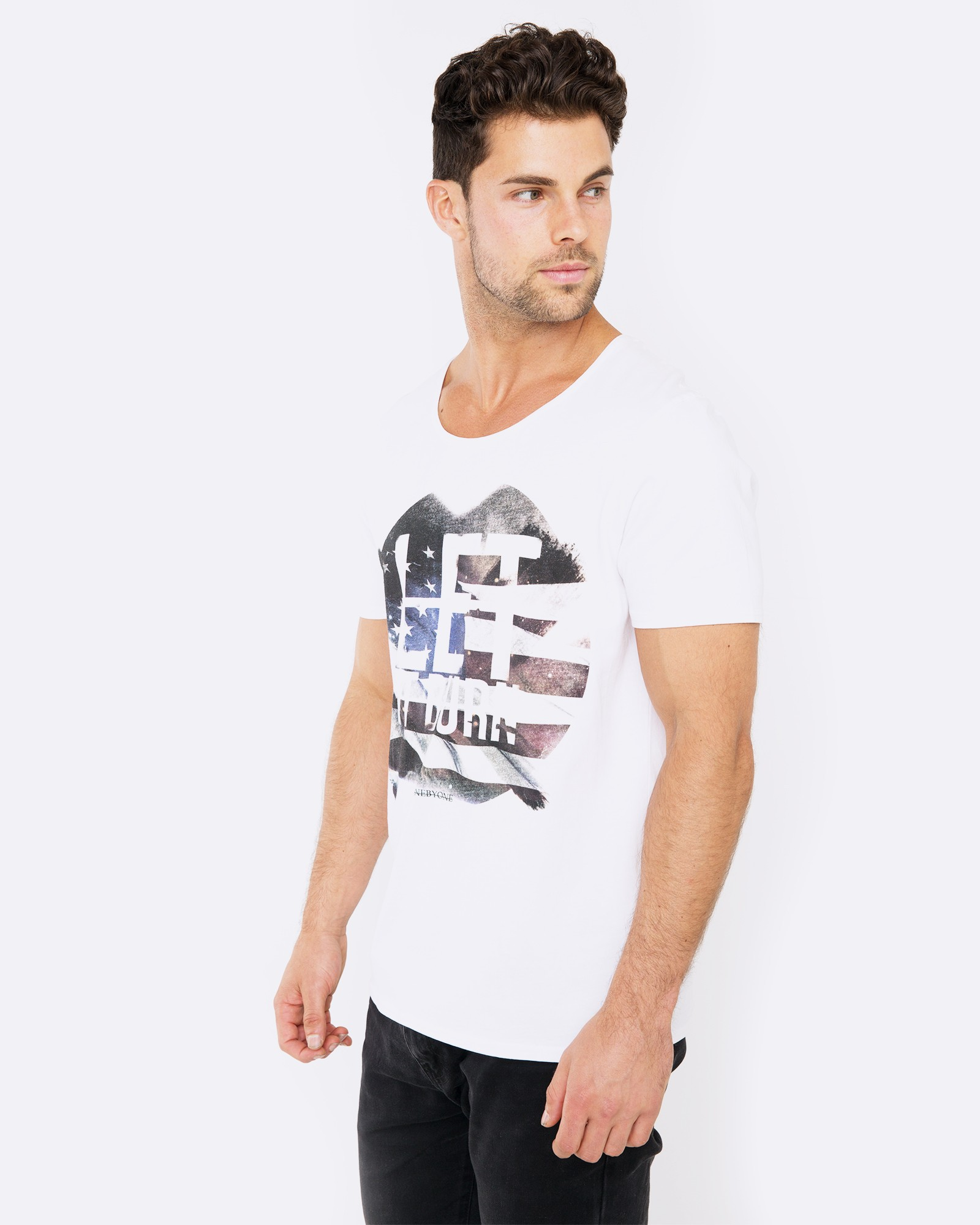LET IT BURN WHITE TEE