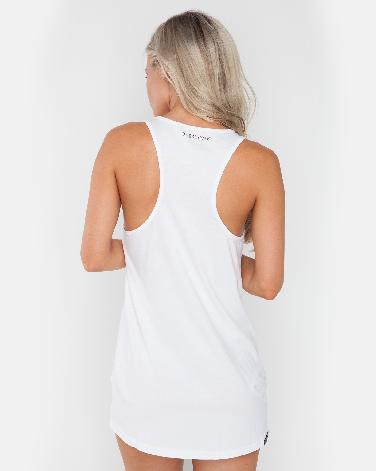 GONE HOME WHITE SINGLET