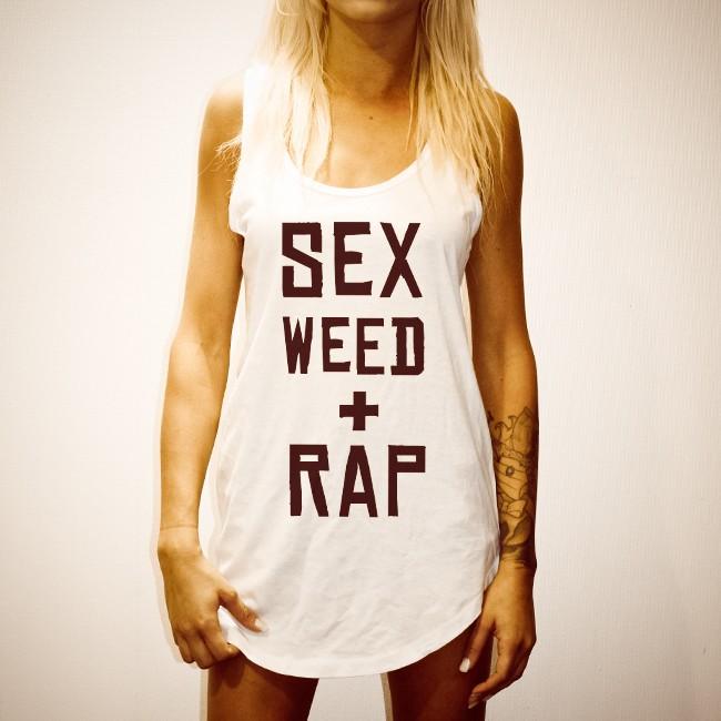 SEX WEED RAP WHITE SINGLET