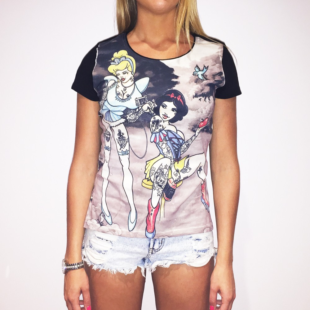 FULL PRINT TATTERELLA WOMENS T-SHIRT