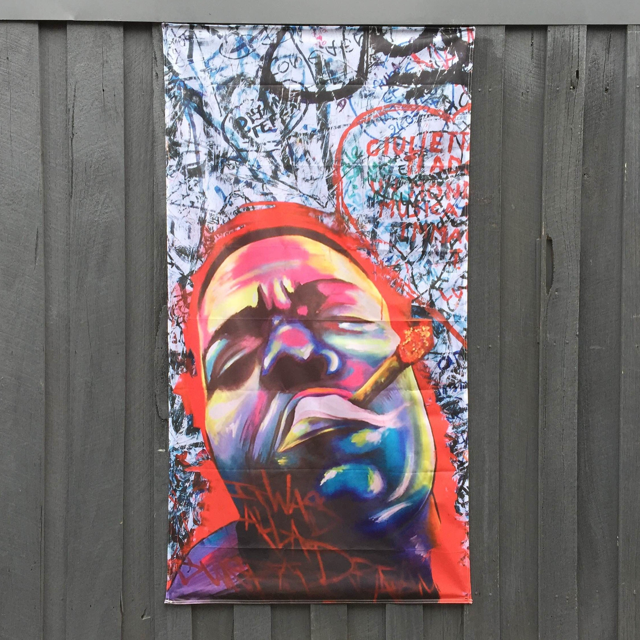 BIGGIE MURAL DOOR HANGING