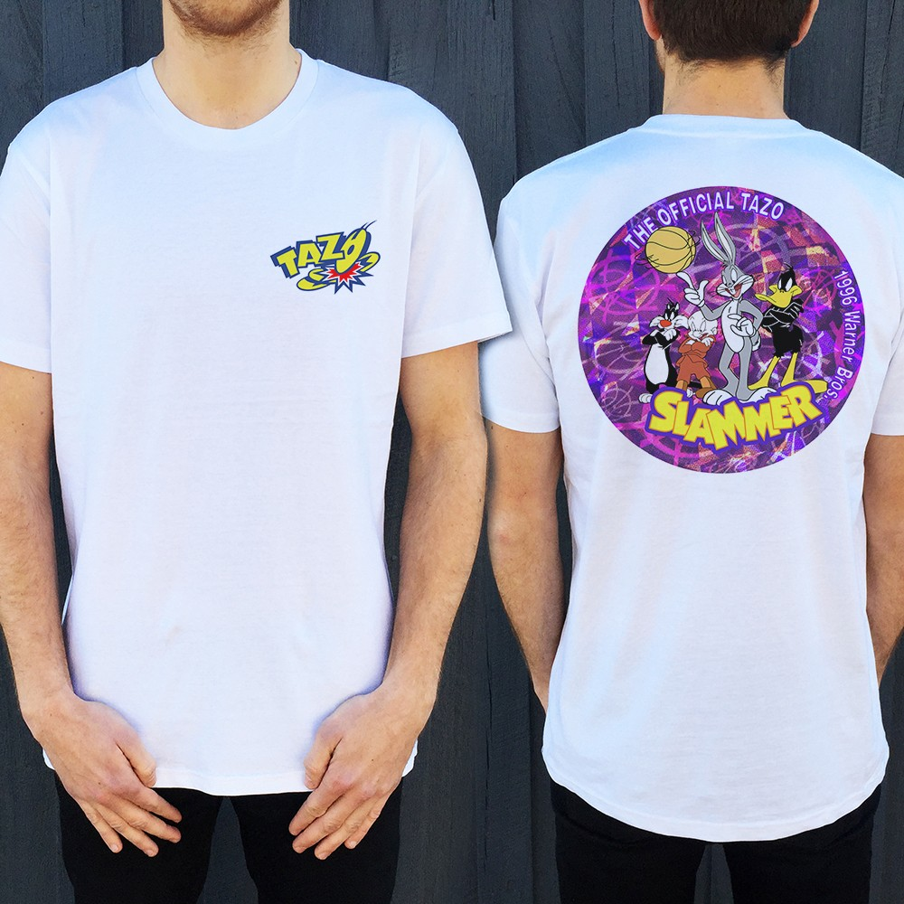 TAZO FRONT AND BACK TEE WHITE