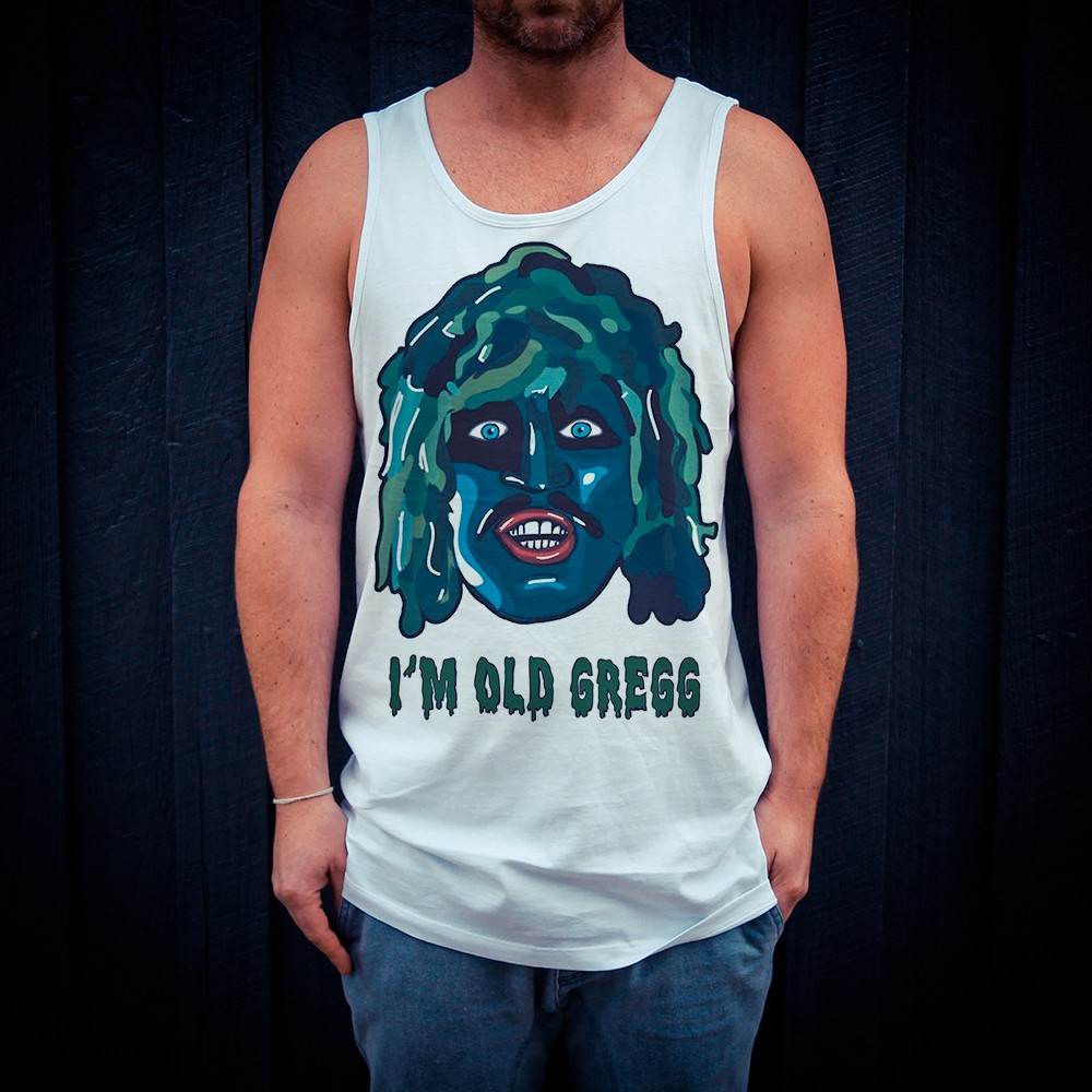 OLD GREGG WHITE SINGLET