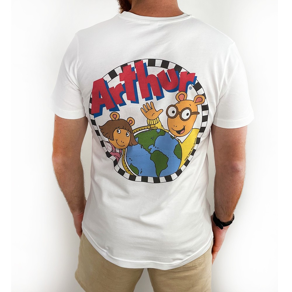 ARTHUR FRONT AND BACK WHITE TEE