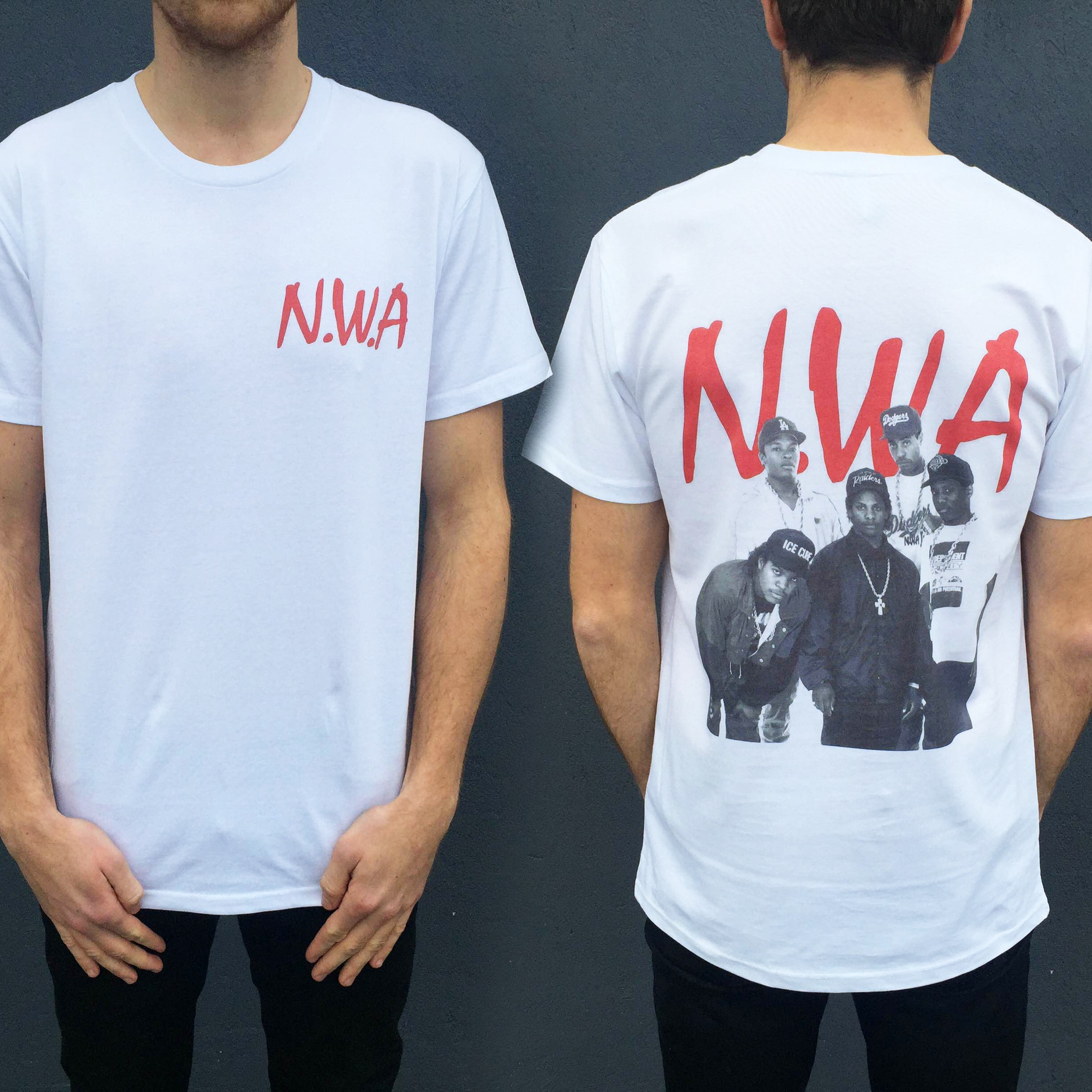 NWA FRONT AND BACK TEE