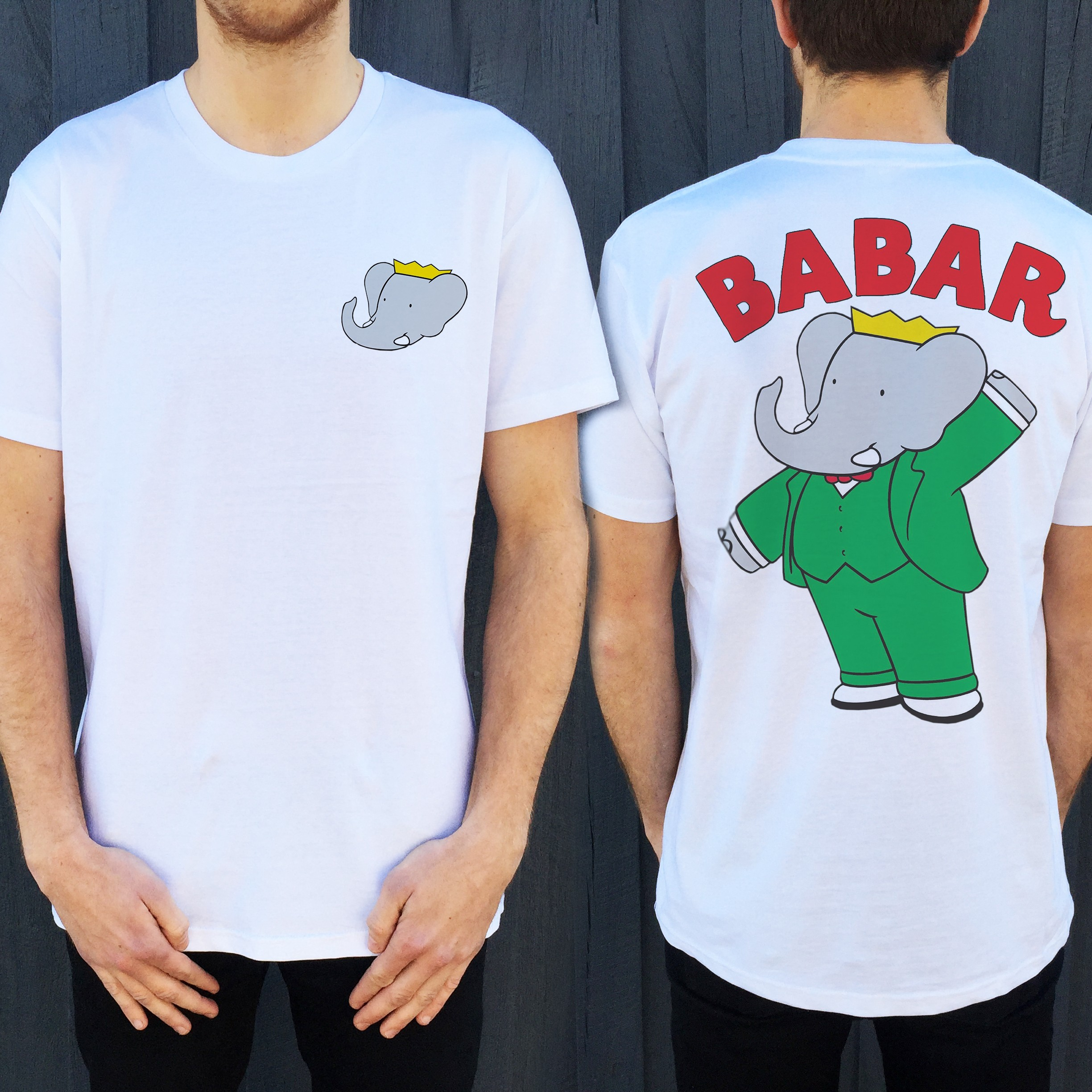 BABAR FRONT AND BACK TEE