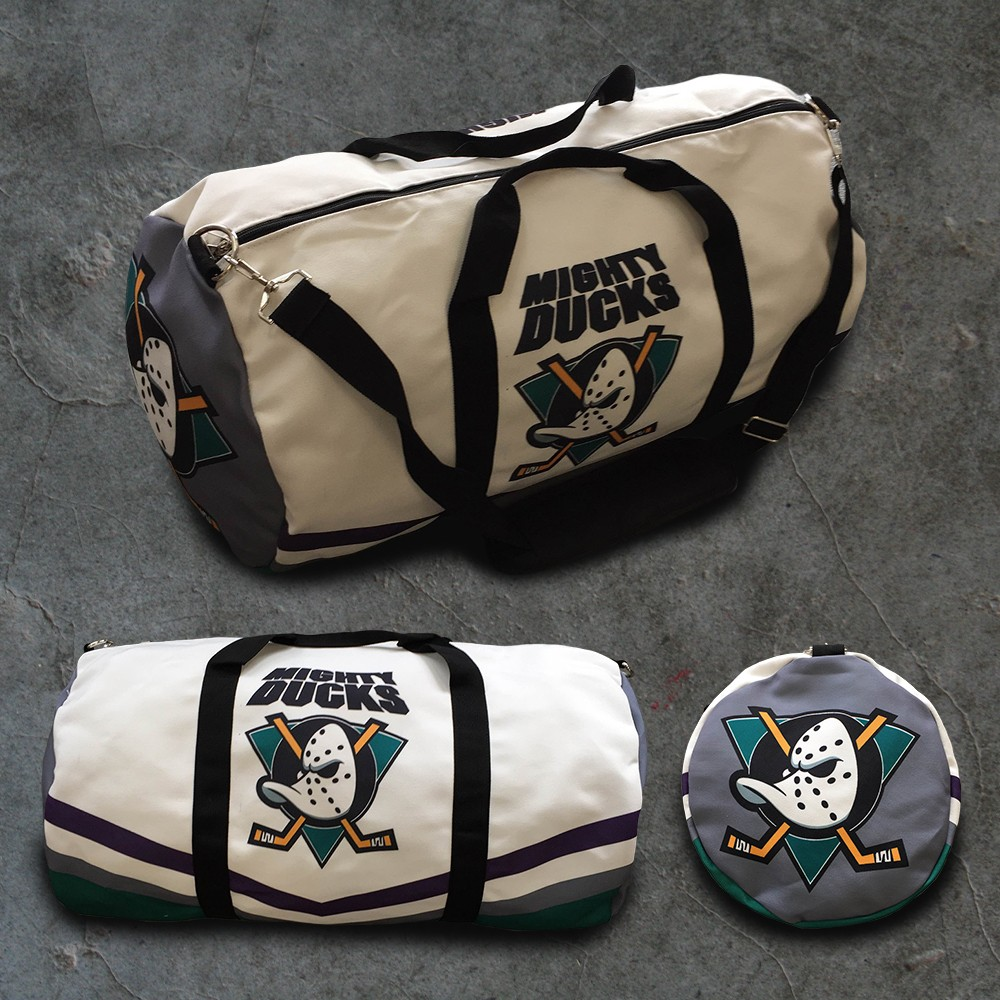 MIGHTY DUCKS WHITE DUFFLE BAG