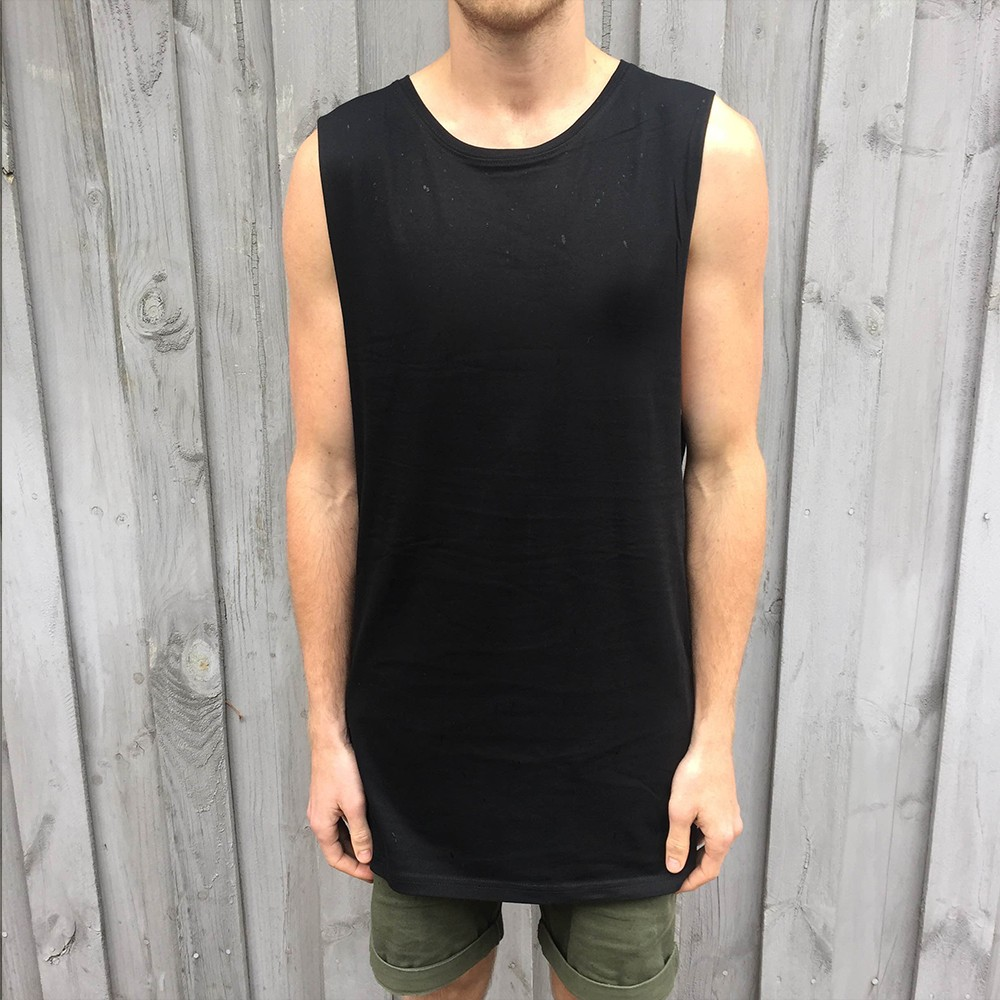 BLANK BLACK TALL TANK