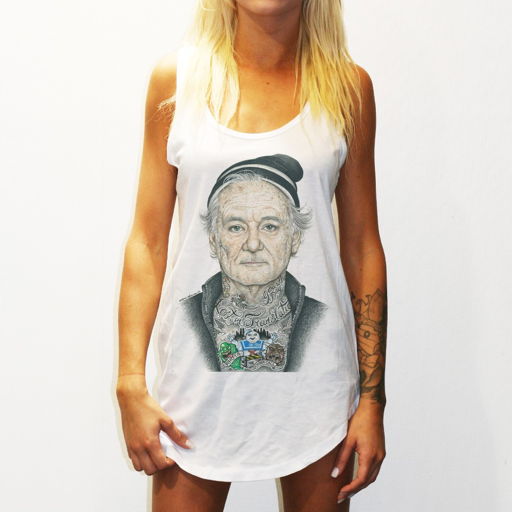 WOMENS BILL MURRAY WHITE SINGLET