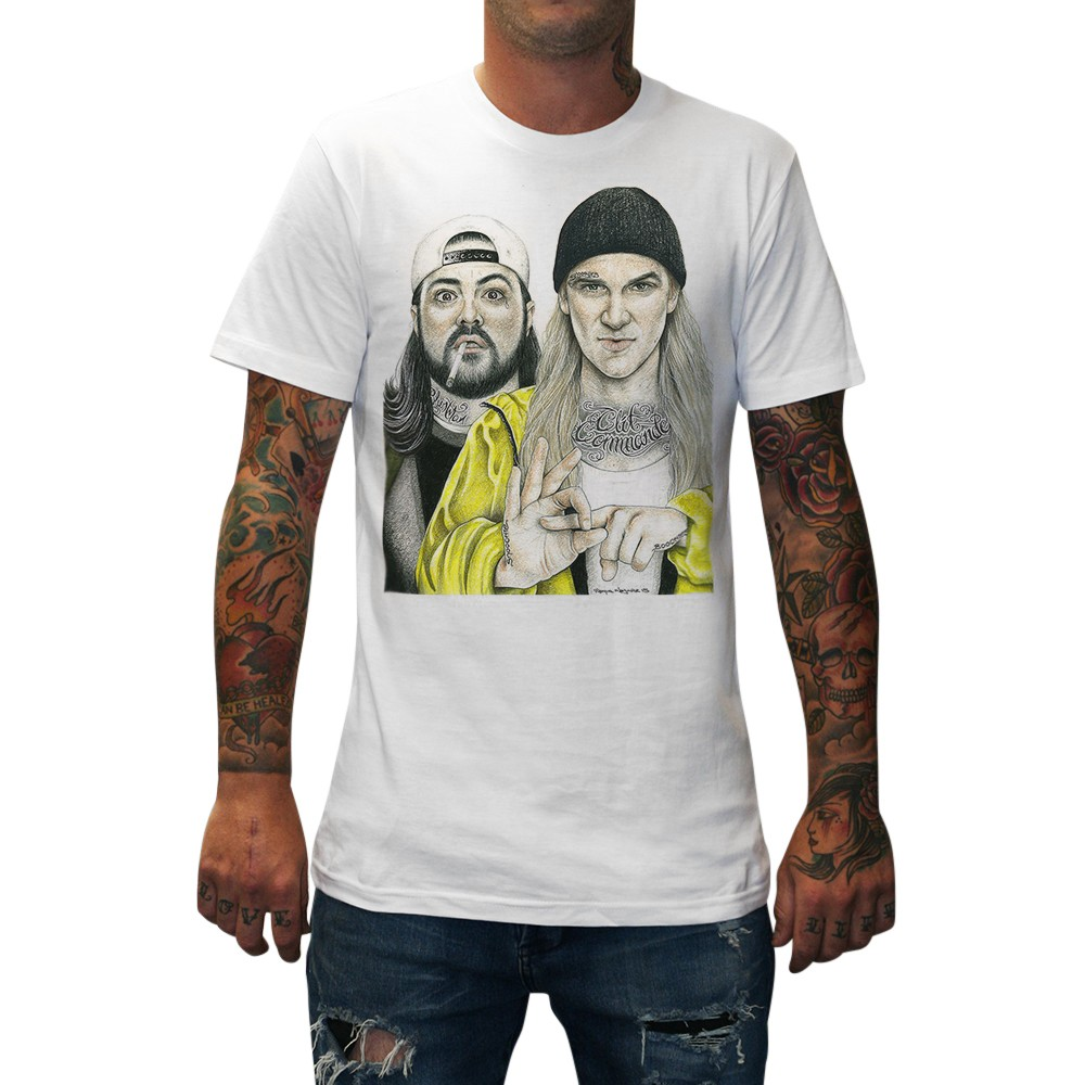 JAY AND SILENT BOB WHITE TEE