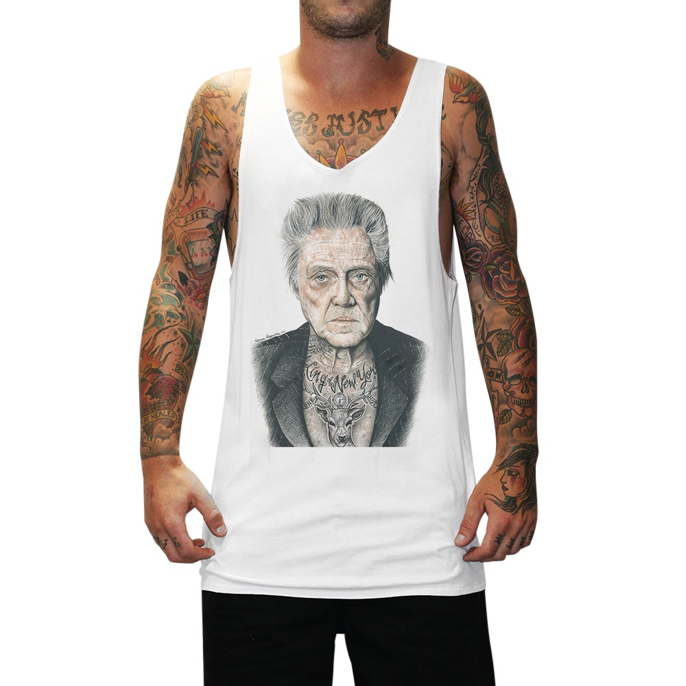 WALKEN WHITE SINGLET