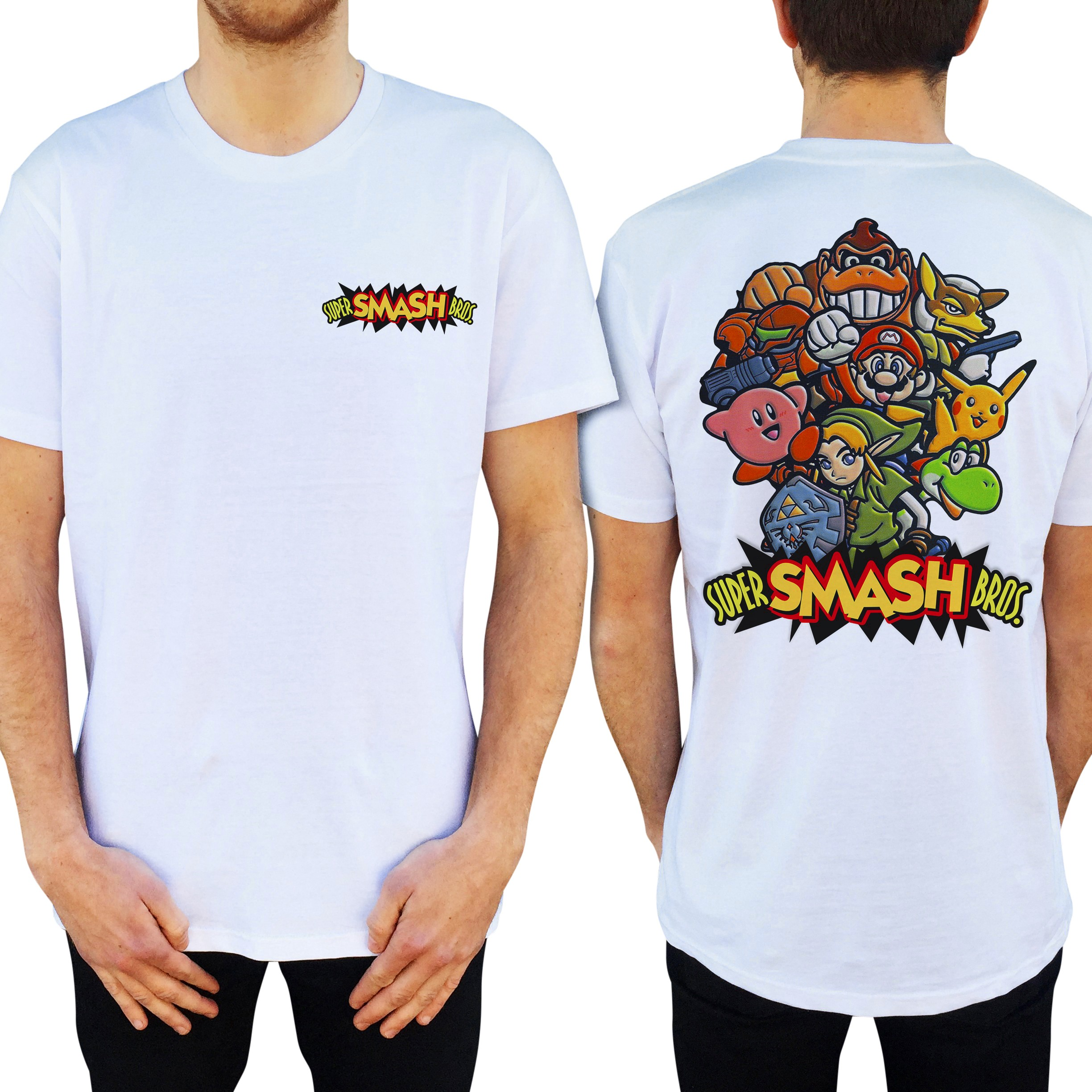 SMASH BROS FRONT AND BACK TEE