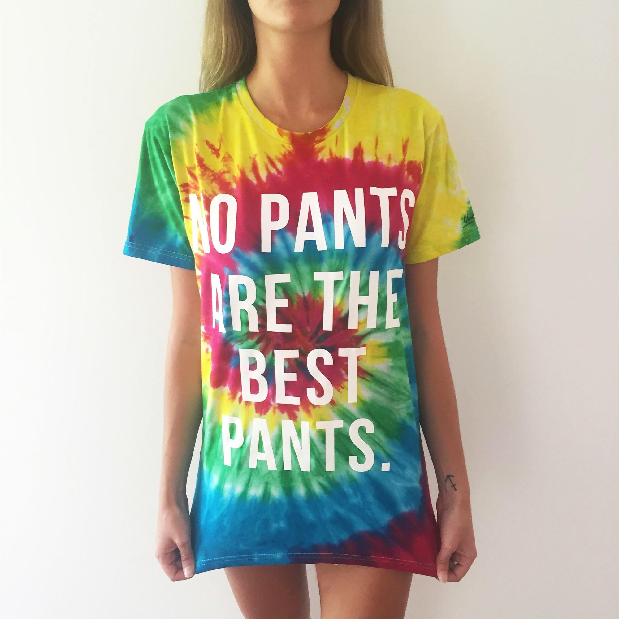 NO PANTS TIE DYE TEE