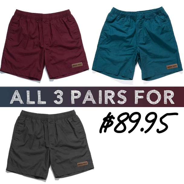 RECO BEACH SHORTS 3 PACK COMBO