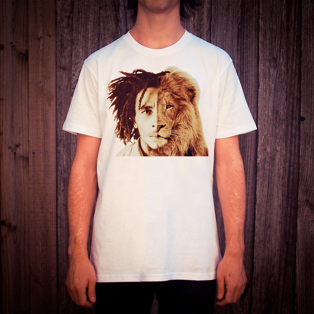 MARLEY 2 FACE WHITE TEE, Marley 2 Face White T-Shirt