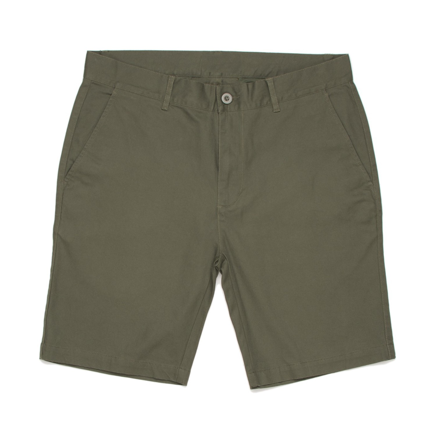 ARMY GREEN RECO CHINO SHORTS