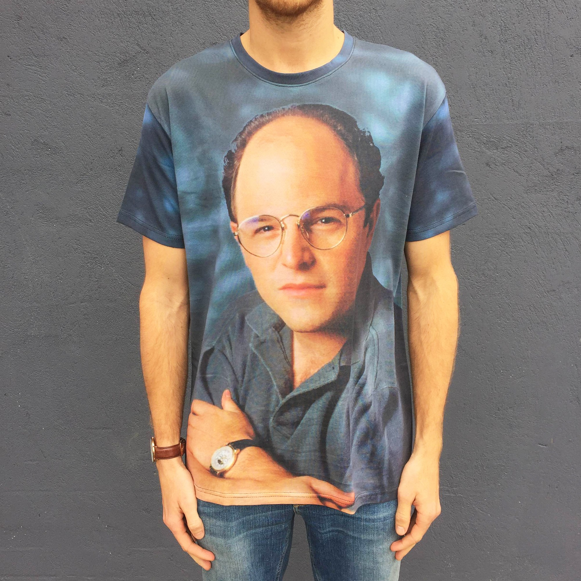 FULL PRINT GEORGE COSTANZA PORTRAIT TEE