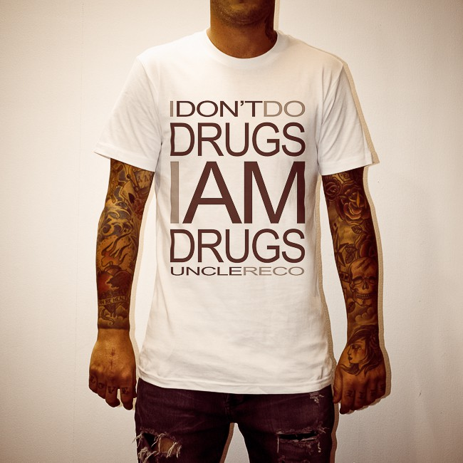 I AM DRUGS WHITE TEE