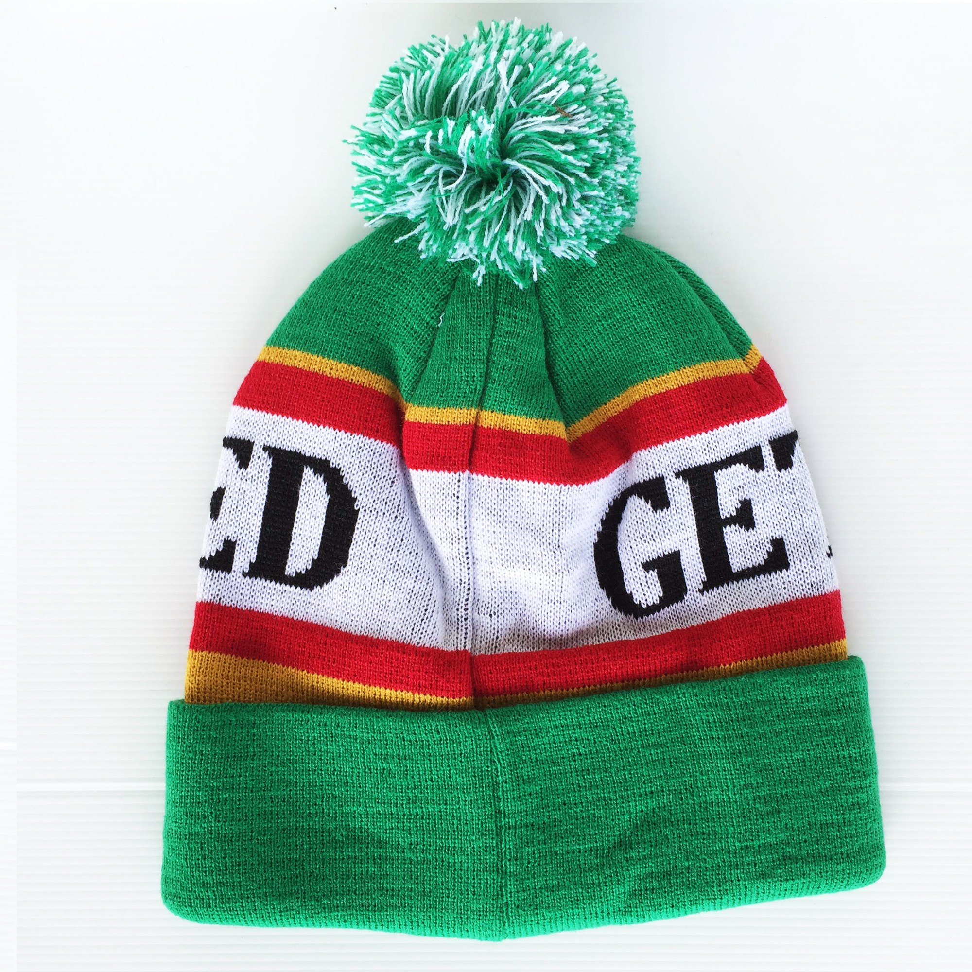 GET FUCKED RED/ GREEN BEANIE