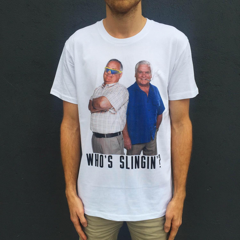SLINGIN' WHITE TEE